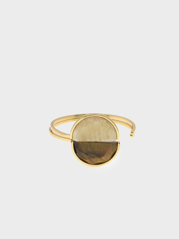 Tiger's Eye Cuff Bracelet, Yellow