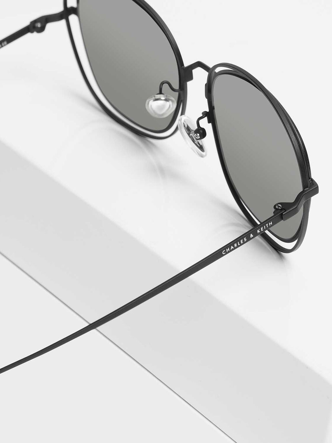 Double Wire Frame Shades, Black, hi-res