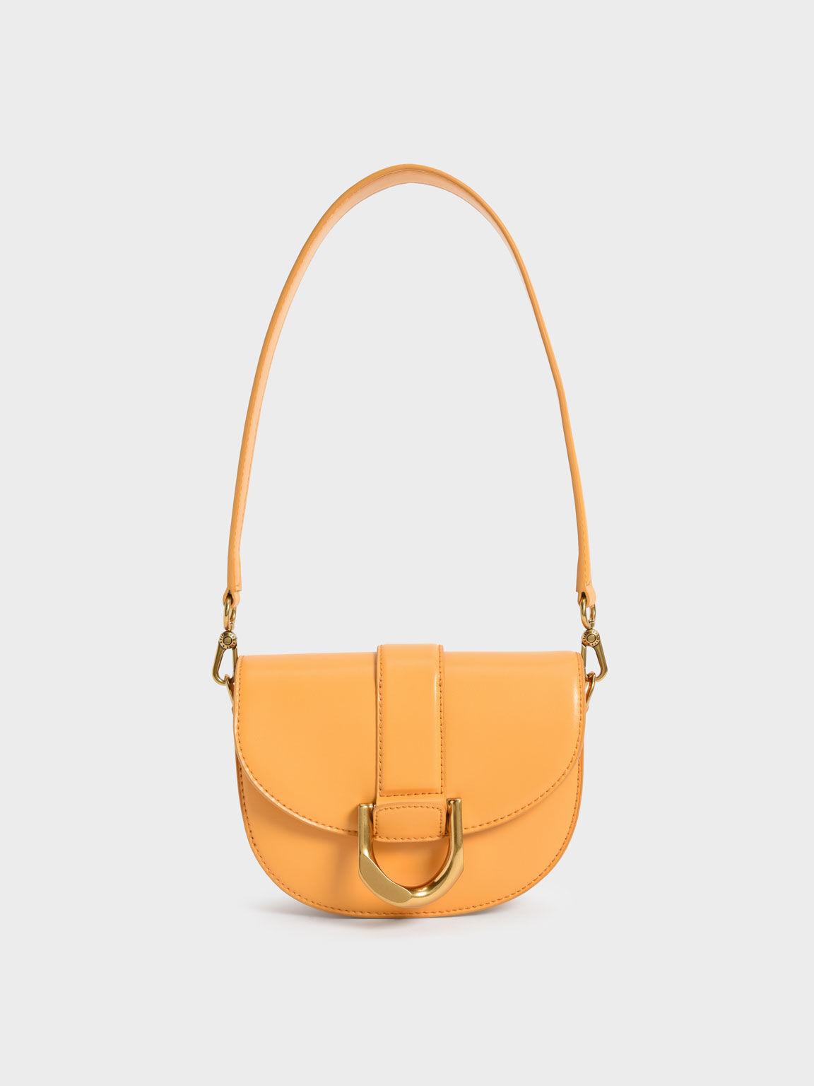 Mini Gabine Saddle Bag, Mustard, hi-res