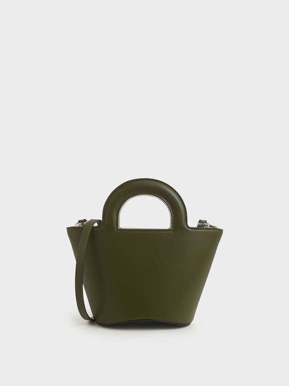 Two-Tone Trapeze Bag, Olive, hi-res