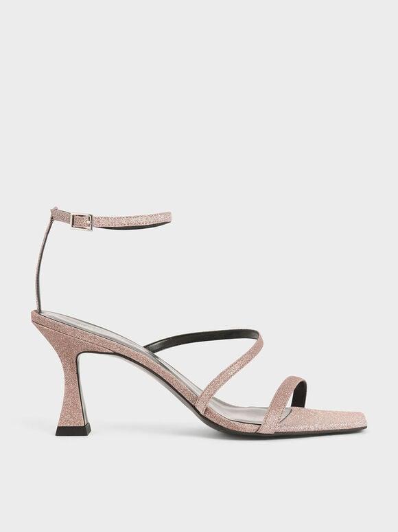 雙帶高跟涼鞋, 粉紅色, hi-res