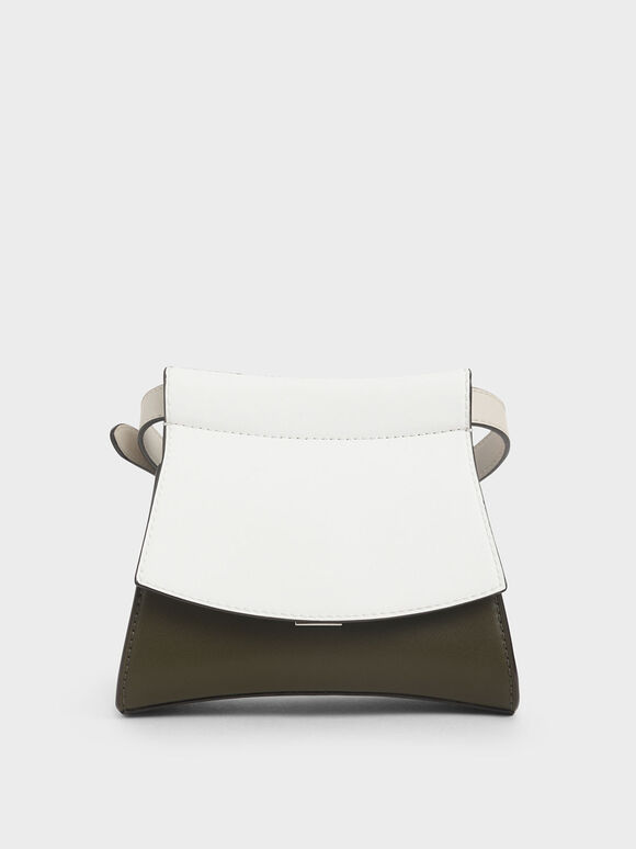 Two-Tone Belt Bag, White, hi-res