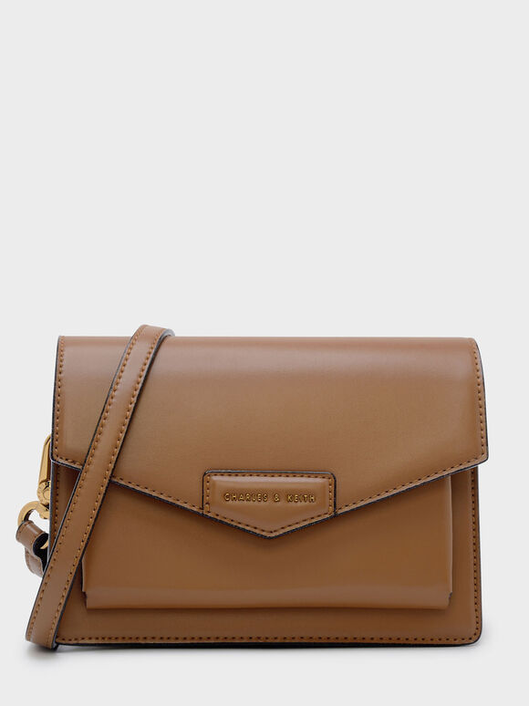 Envelope Satchel, Cognac, hi-res