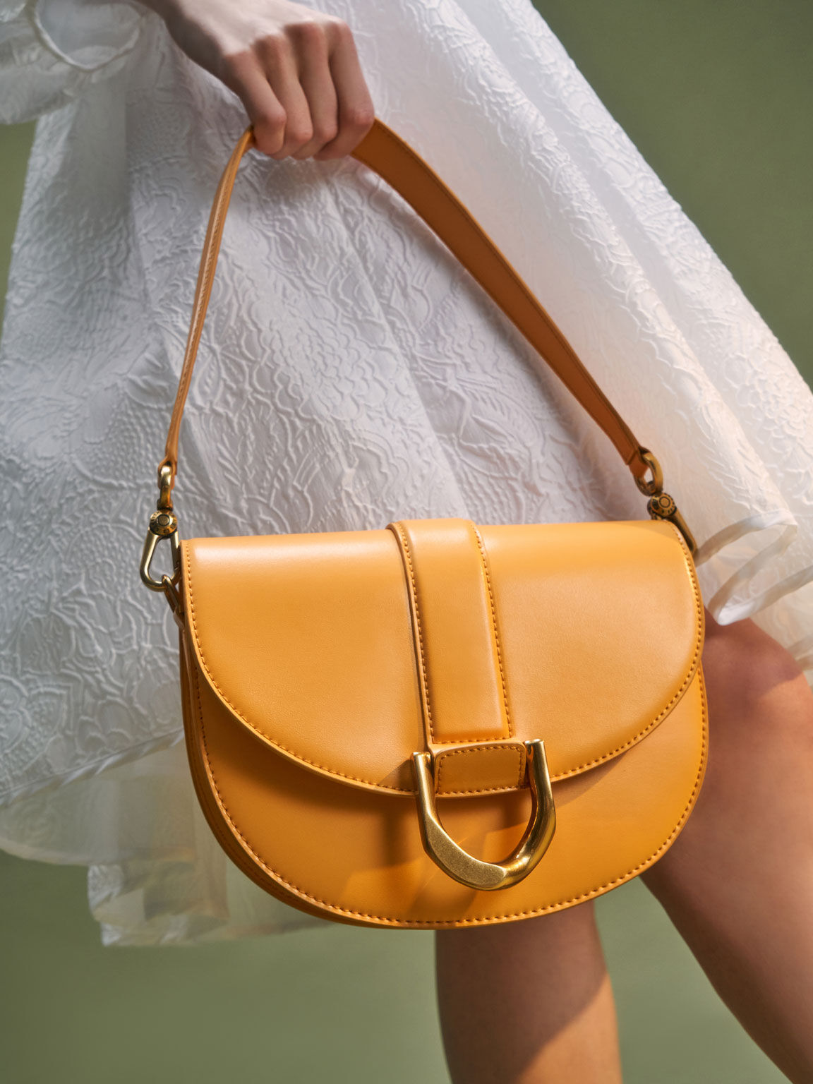 Gabine Saddle Bag, Mustard, hi-res