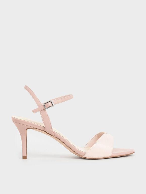 心形細跟涼鞋, 粉紅色, hi-res