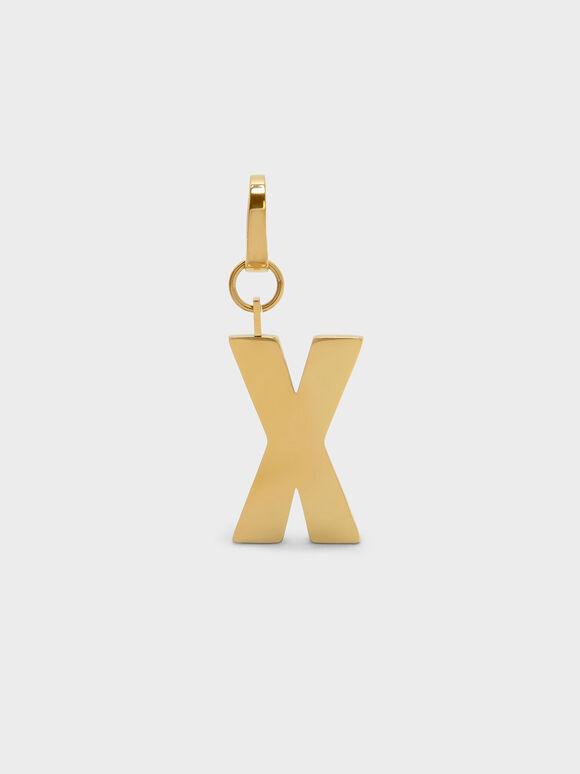 골드 알파벳 키체인, Gold, hi-res