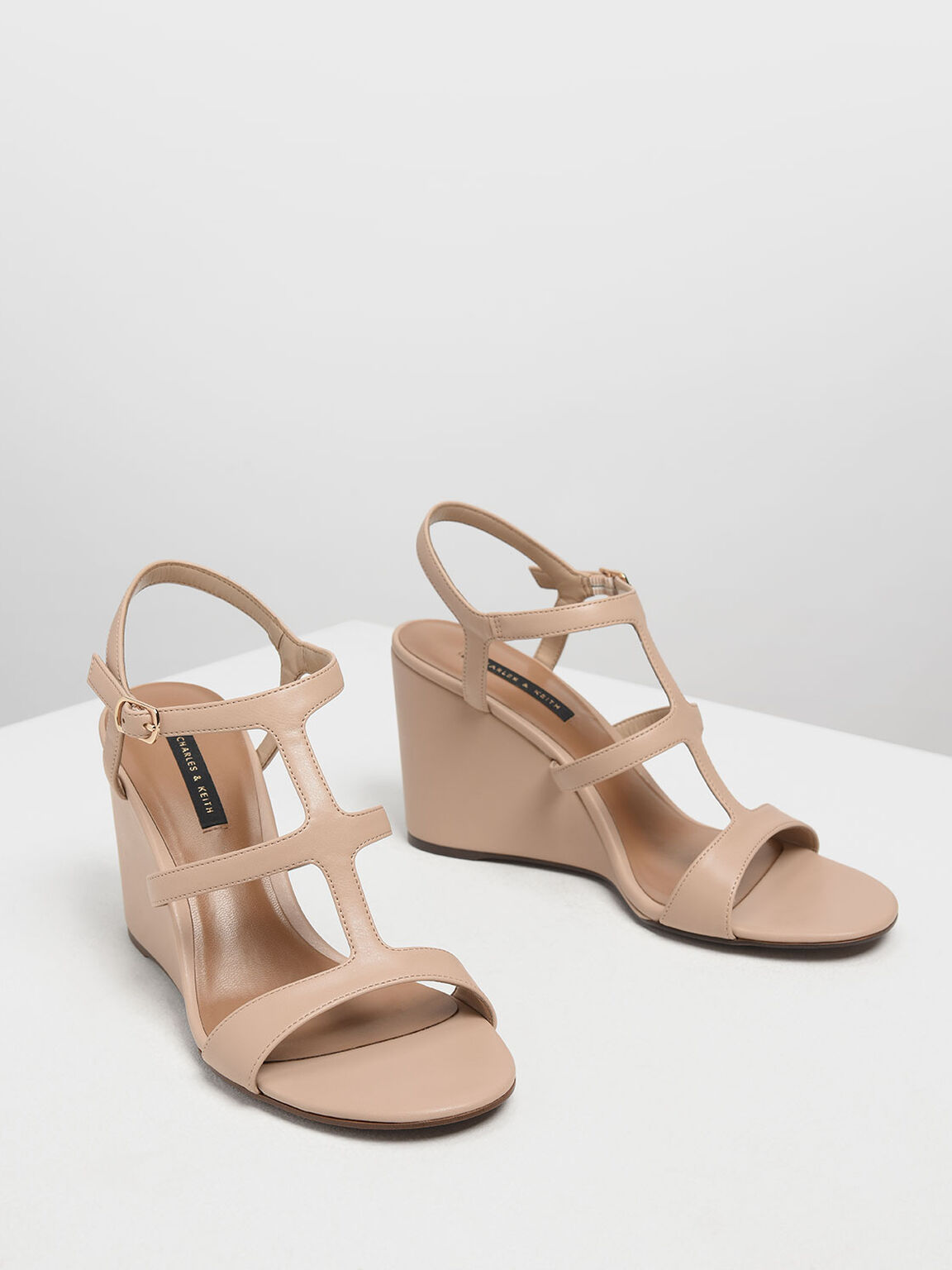 Strappy Wedges, Nude, hi-res