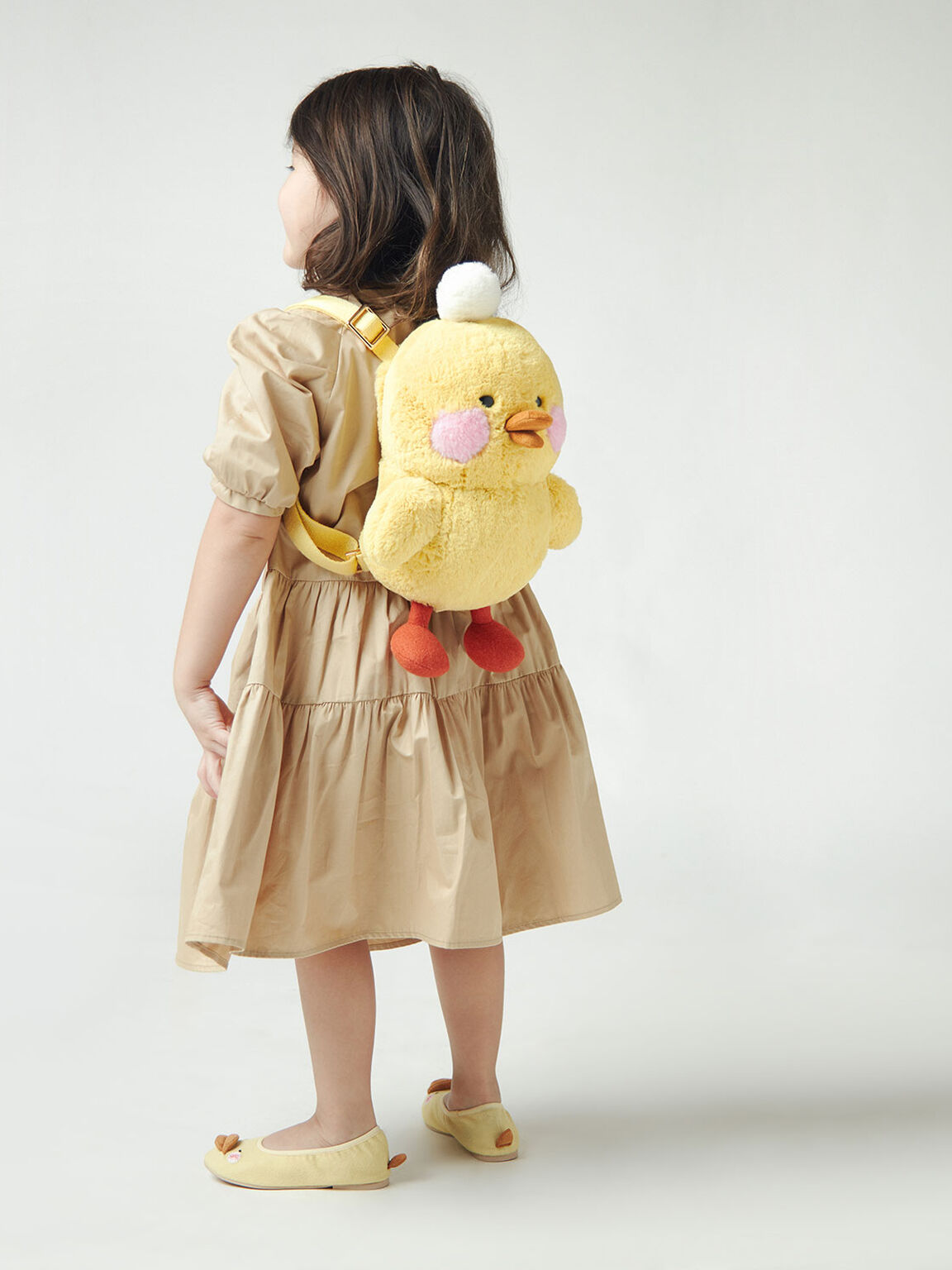 Girls' David The Duck Backpack, Yellow, hi-res