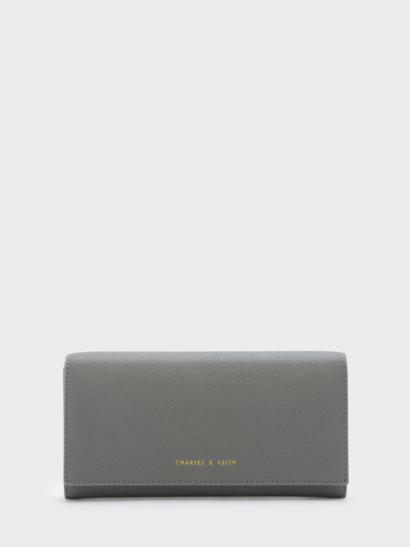 Basic Long Wallet, Grey, hi-res