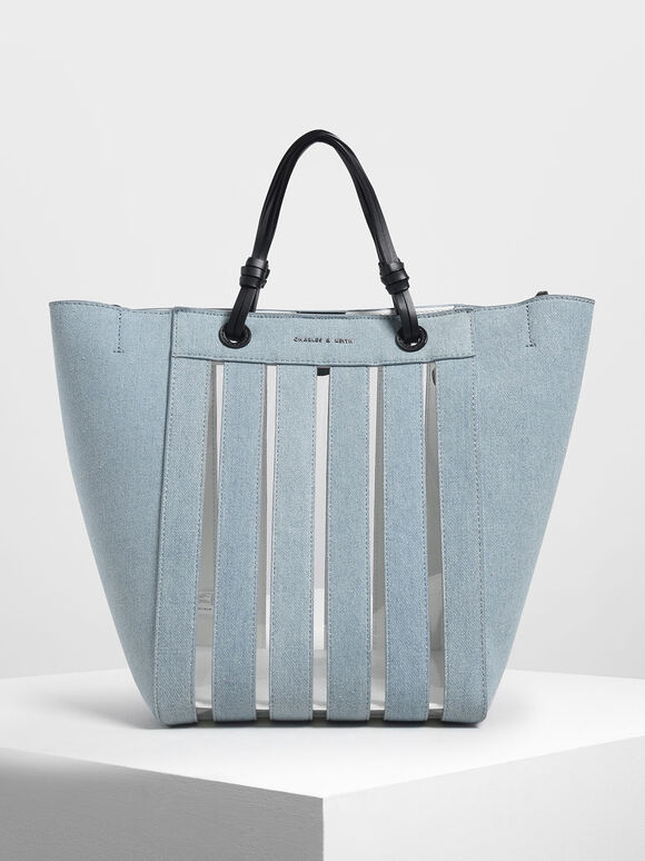 Two-Way Tote, Blue, hi-res