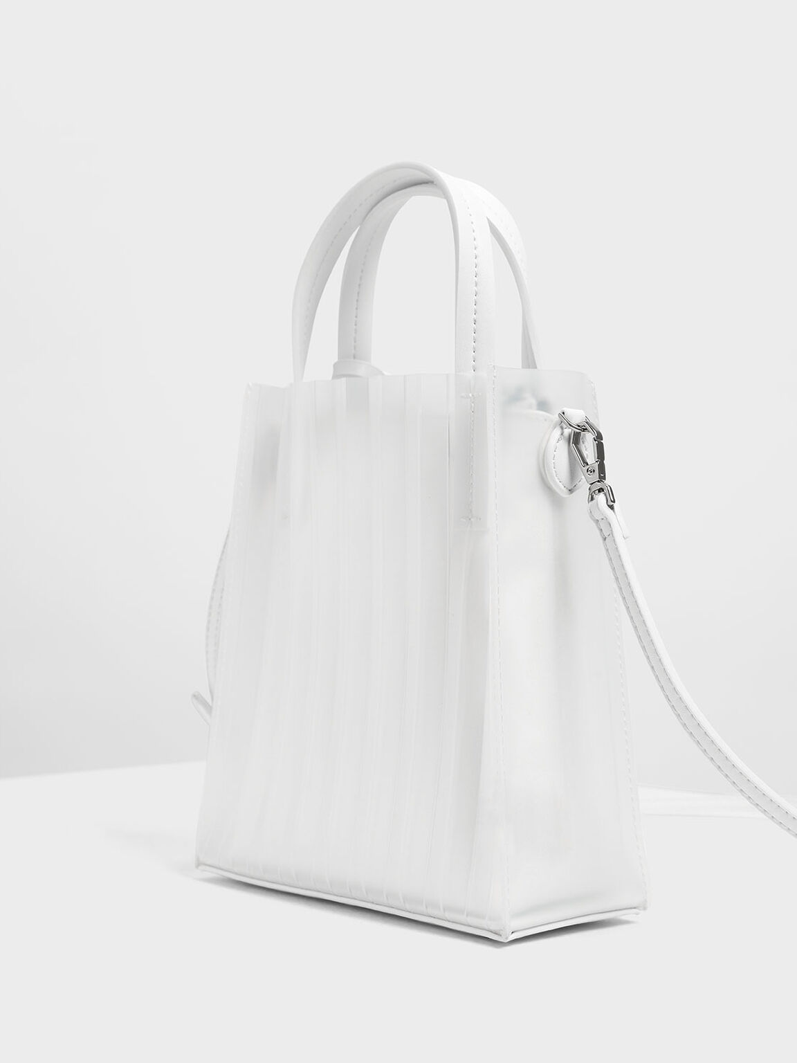 Translucent Tote Bag, White, hi-res