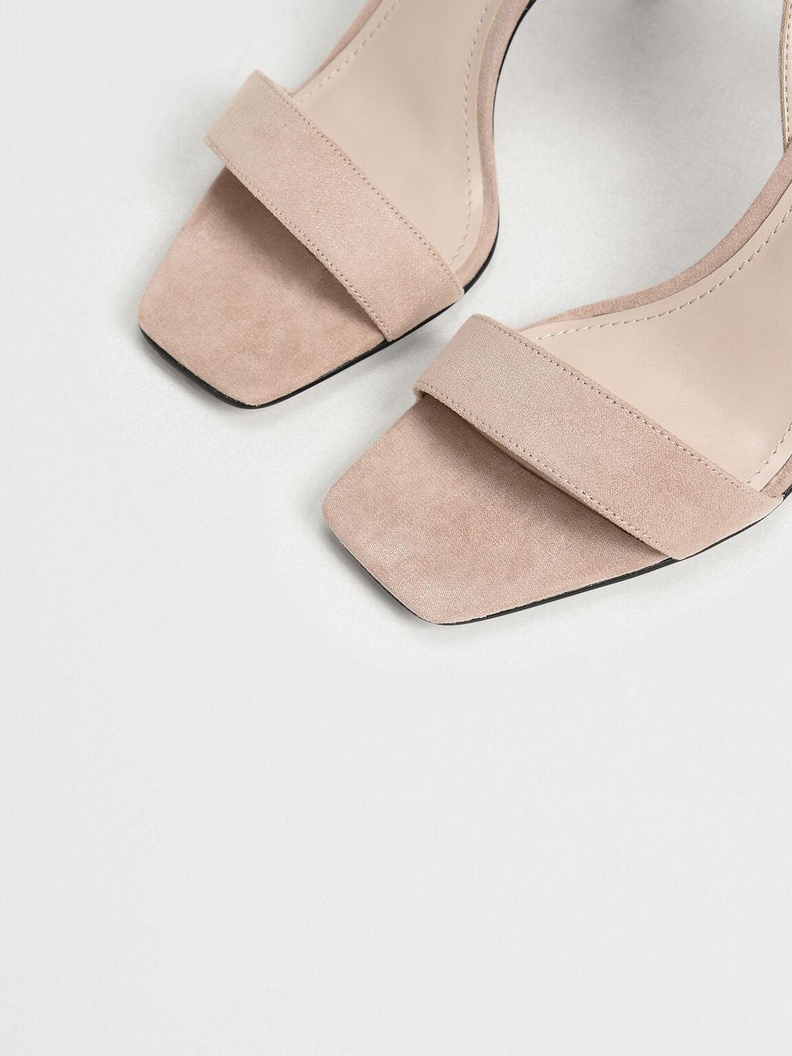 Open Toe Ankle Strap Stiletto Sandals, Nude, hi-res