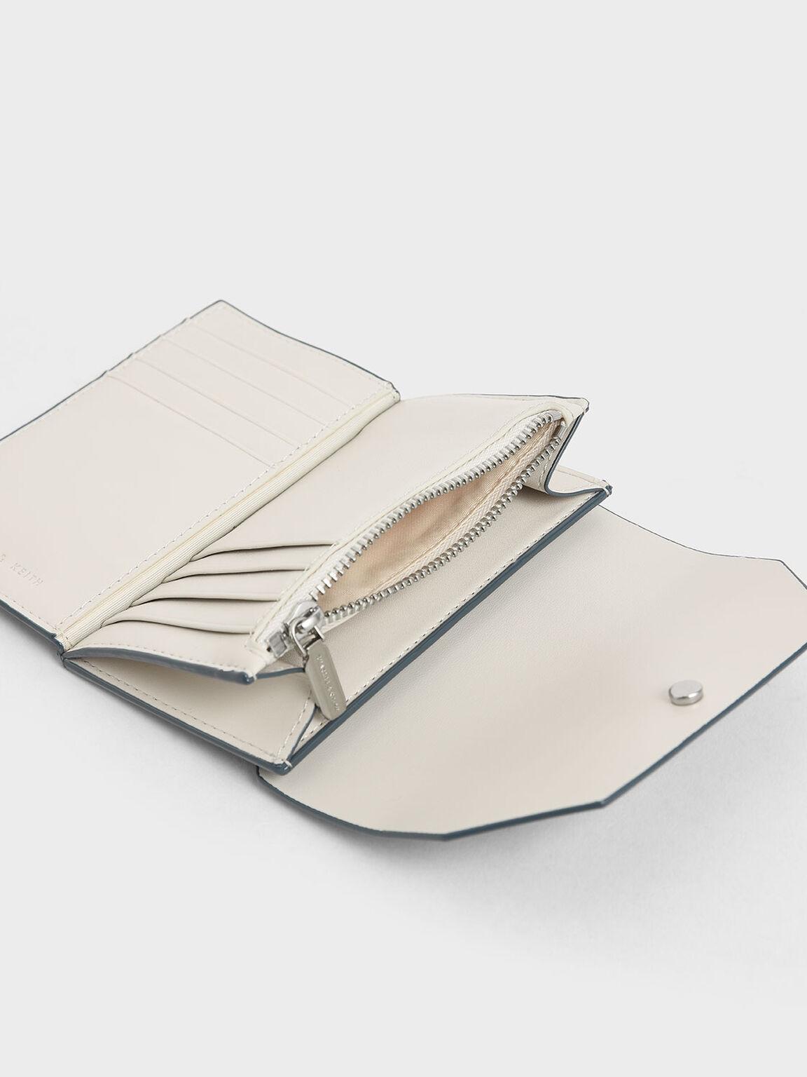Reversible Front Flap Card Holder, Blue, hi-res