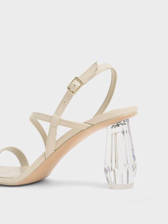 方頭水晶涼鞋, 石灰白, hi-res