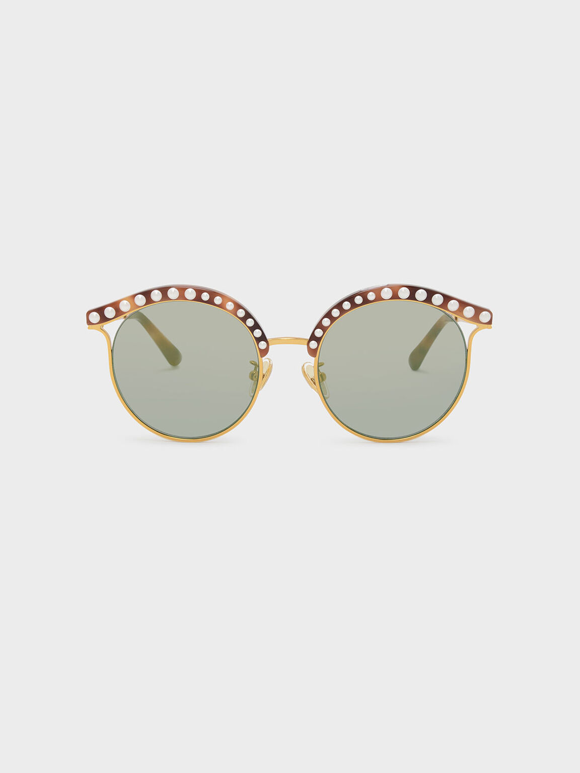 Embellished Sunglasses, T. Shell, hi-res