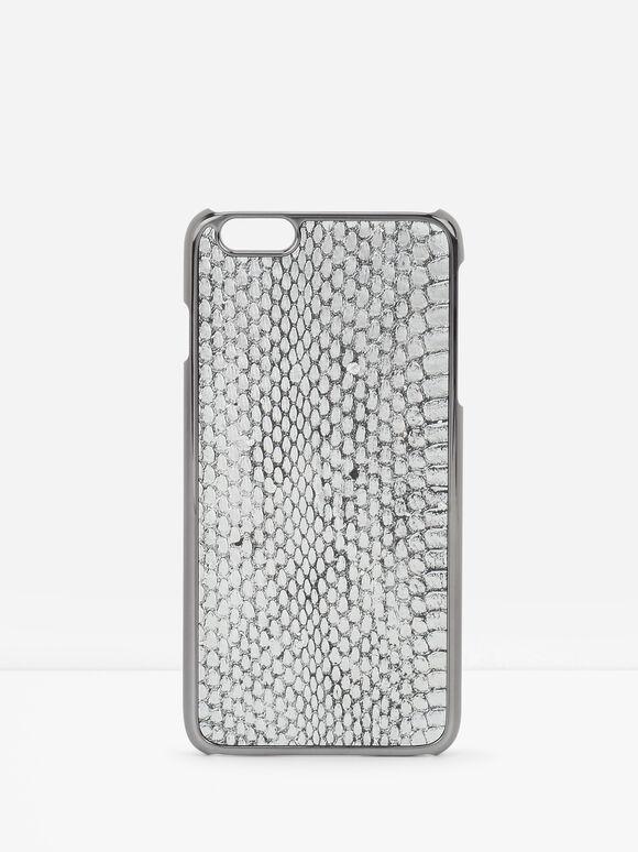 iPhone 6 Plus Snakeskin Case, Silver, hi-res
