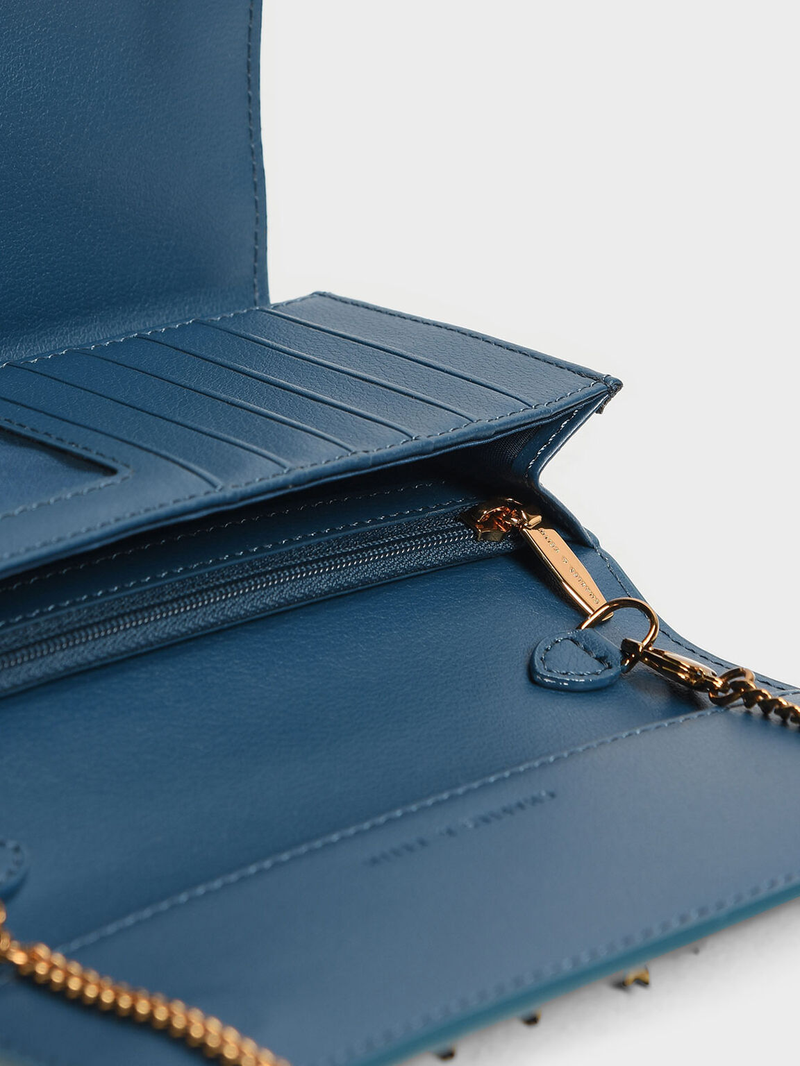Chain Detail Wallet, Teal, hi-res