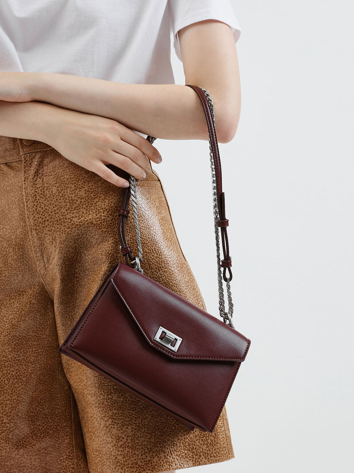 Envelope Bag, Burgundy, hi-res