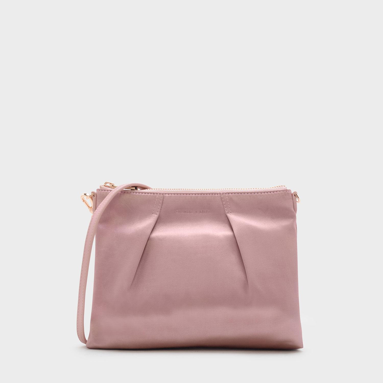 Pink Top Zip Sling Bag | CHARLES \u0026 KEITH