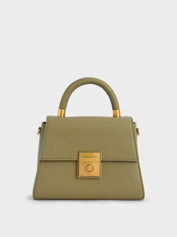 Trapeze Top Handle Bag, Sage Green, hi-res