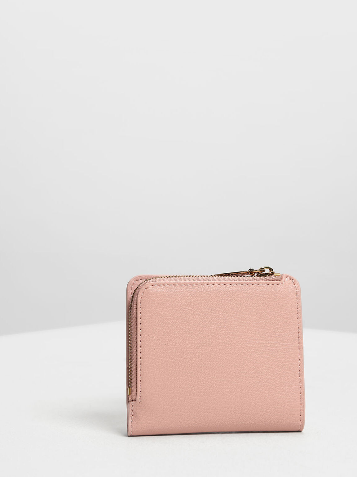 Classic Snap Button Card Holder, Pink, hi-res