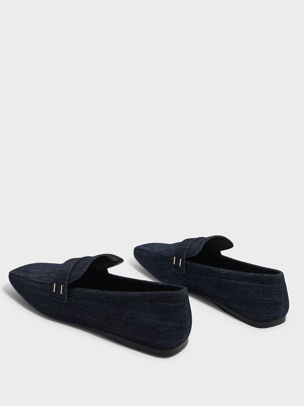 Square Toe Loafers, Blue, hi-res