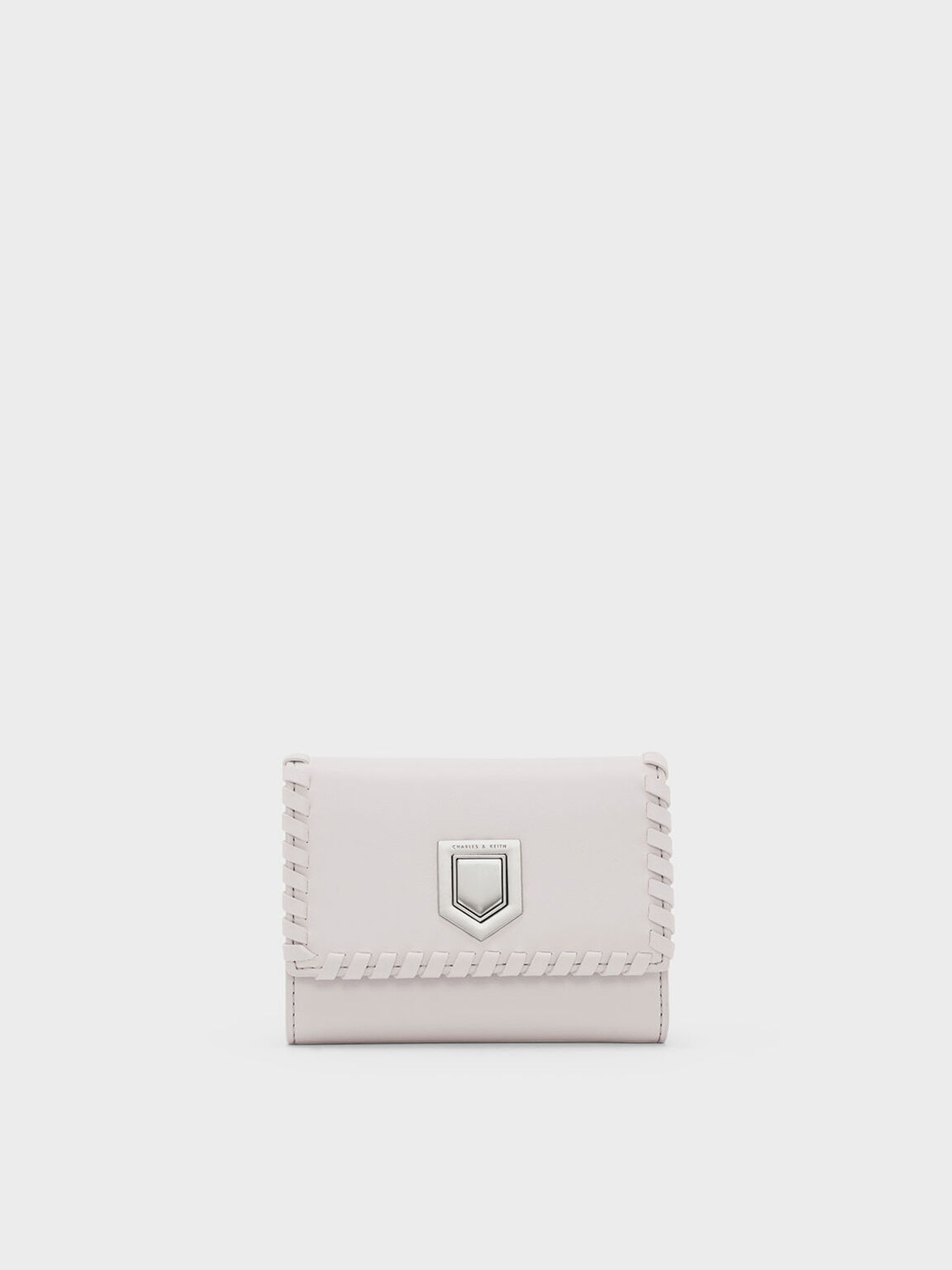 Weave Detail Wallet, Light Pink, hi-res