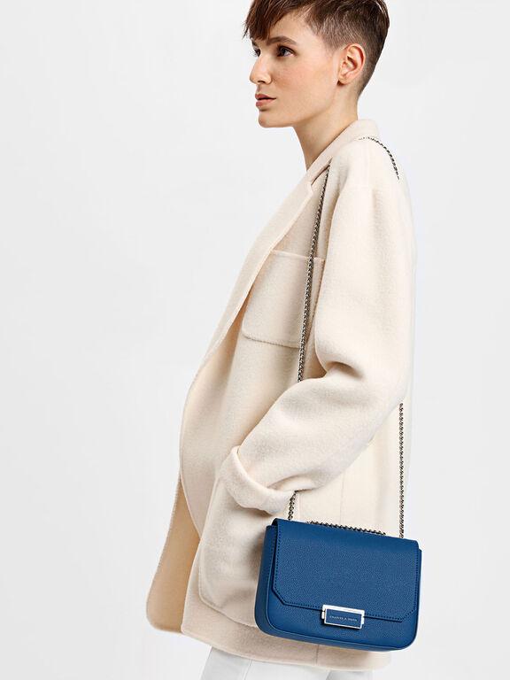 Classic Push-Lock Crossbody Bag, Blue, hi-res