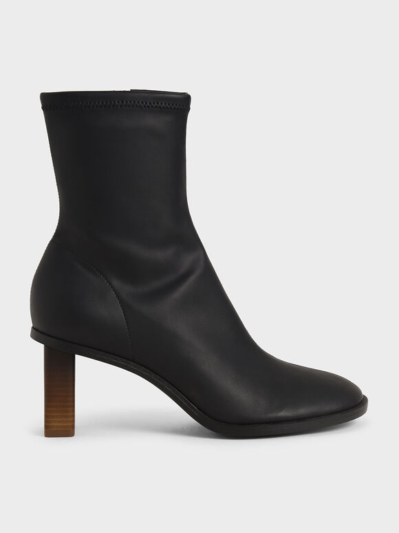 Side-Zip Ankle Boots, Black, hi-res