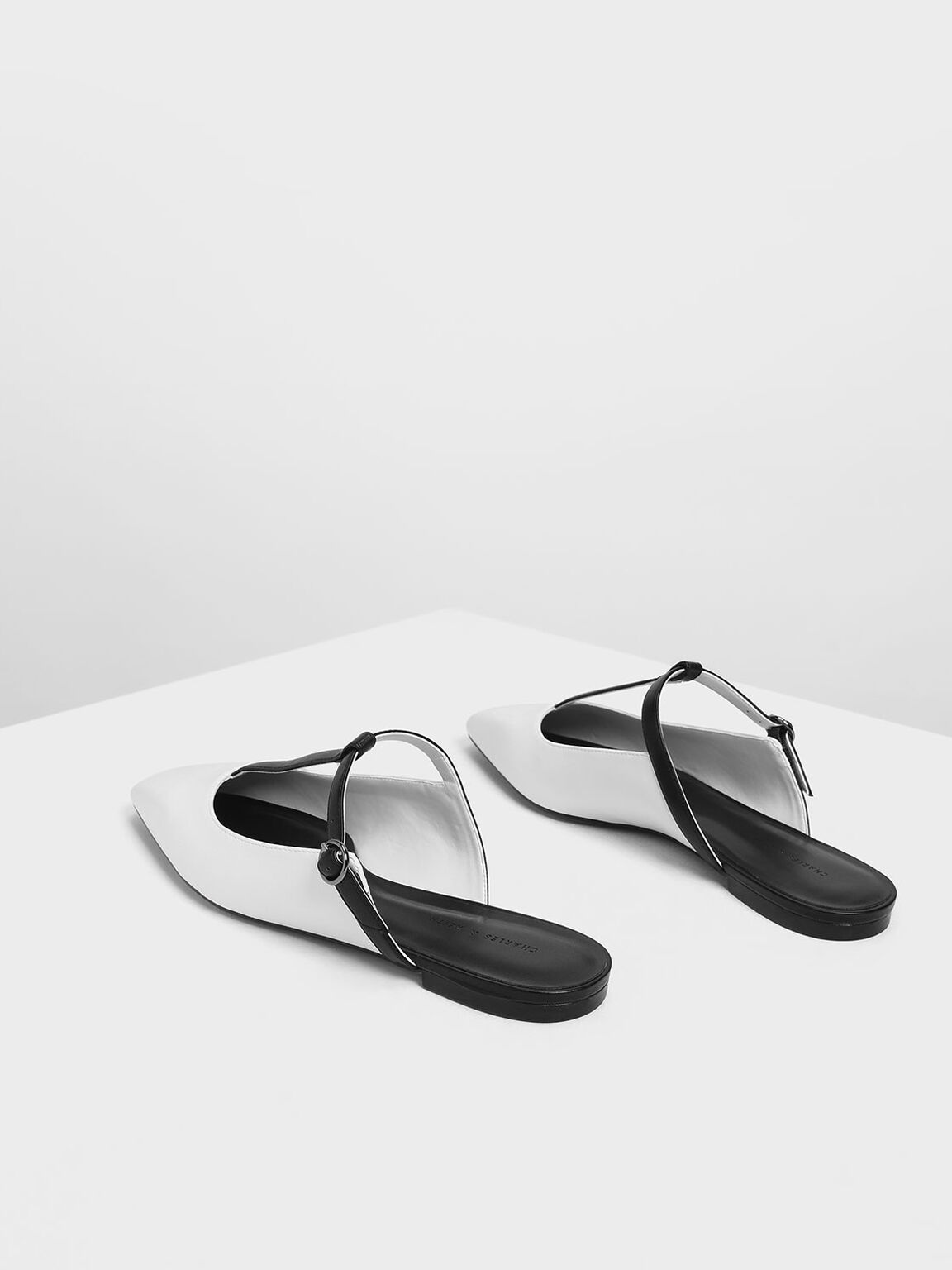 T-Bar Mules, White, hi-res