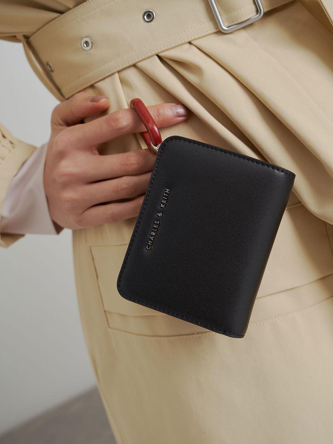 Mini Top Zip Small Wallet, Black, hi-res
