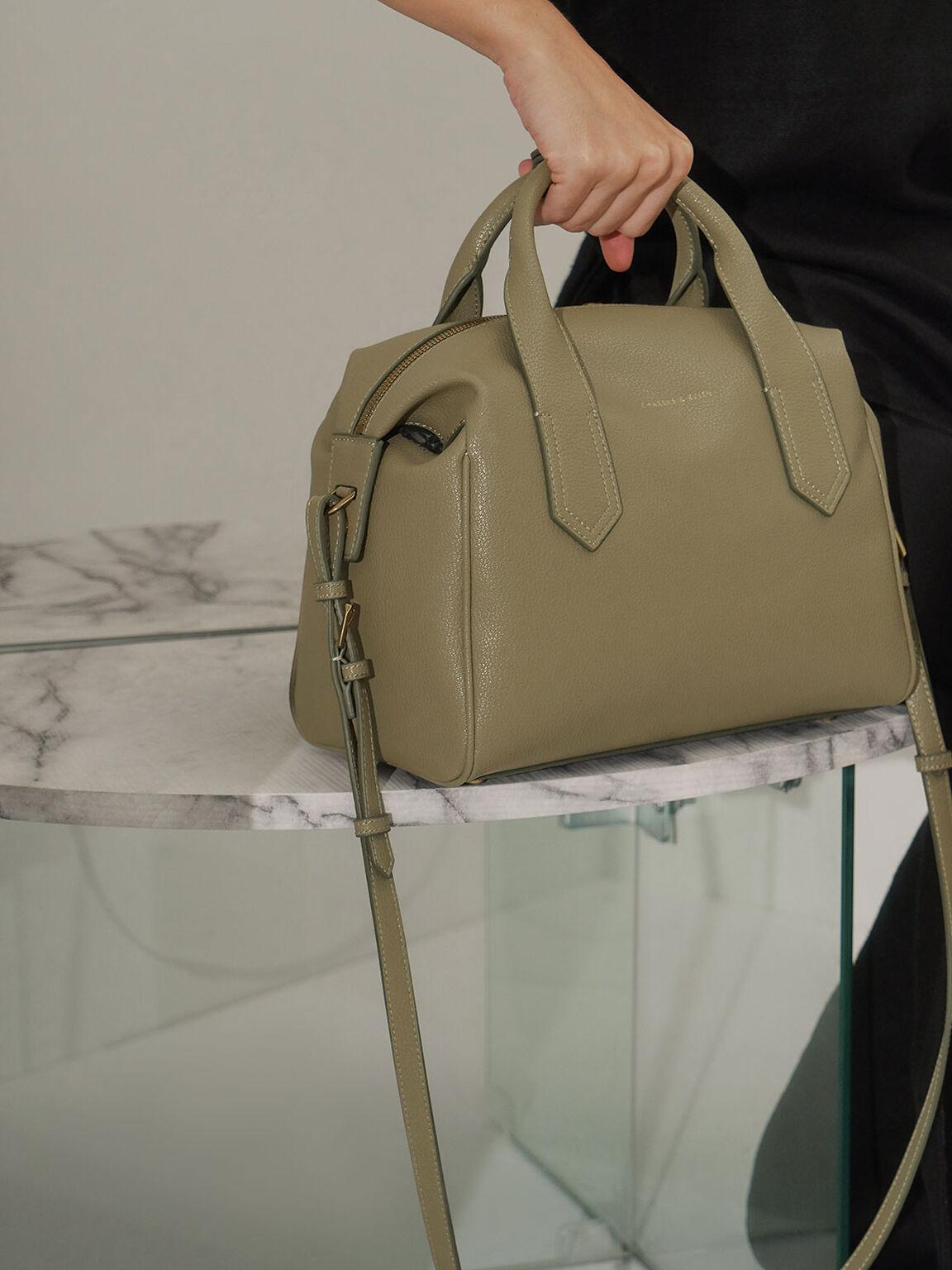 手提保齡球包, 灰綠色, hi-res