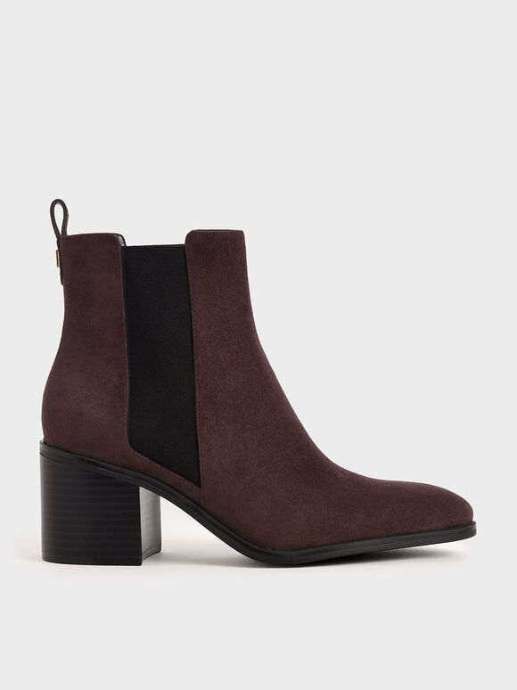 粗跟切爾西靴, 紫色, hi-res