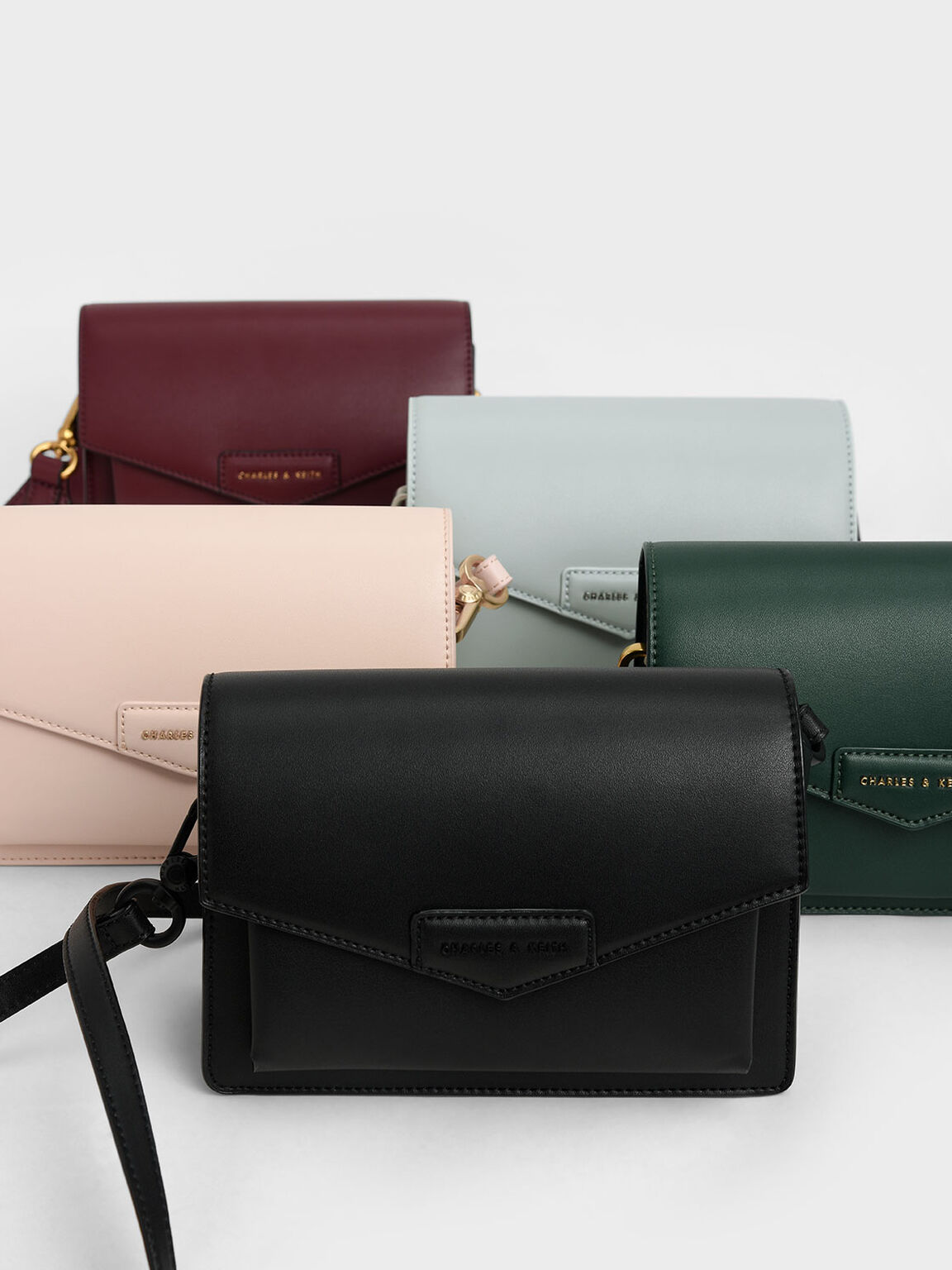 Envelope Crossbody Bag, Light Blue, hi-res