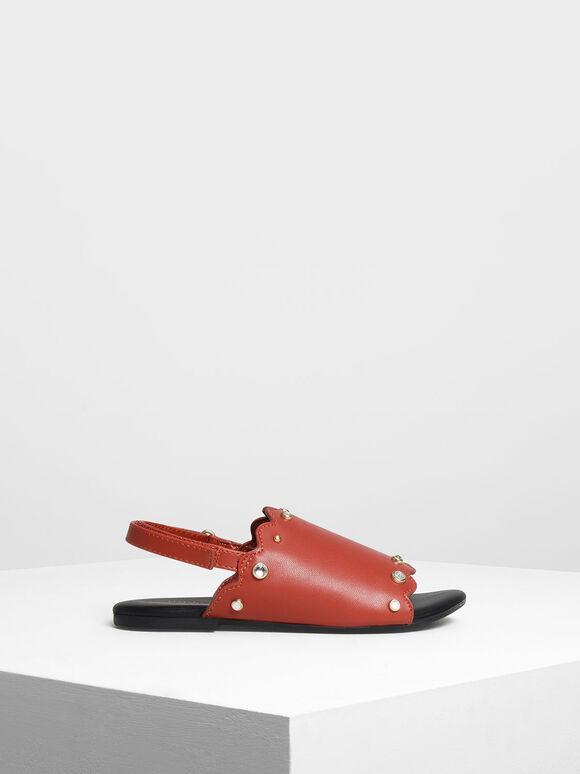 兒童寶石涼鞋, 橘色, hi-res