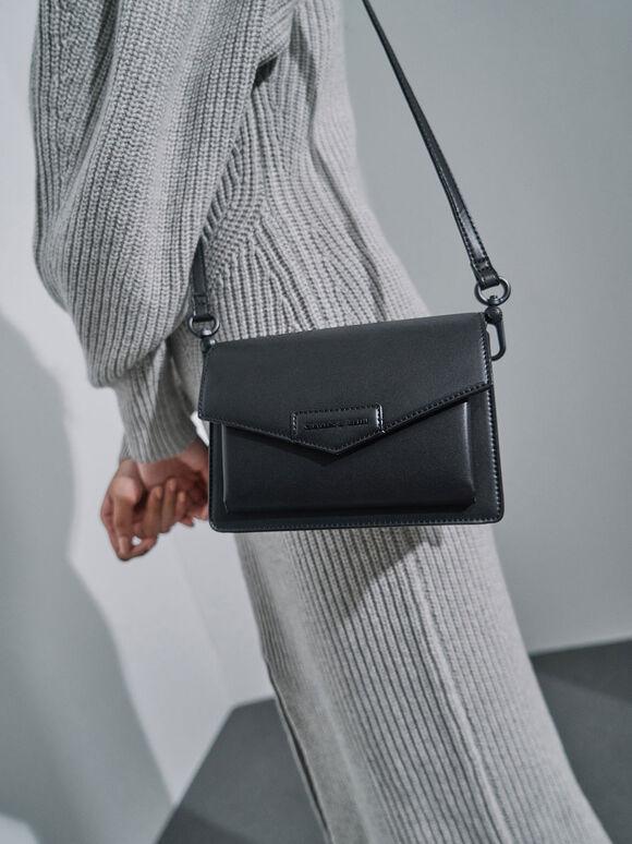 Envelope Crossbody Bag, Ultra-Matte Black, hi-res