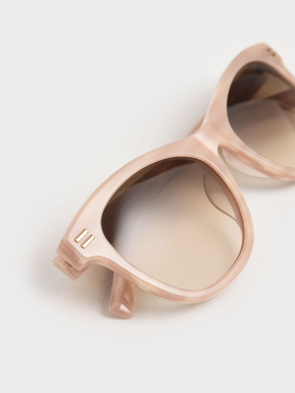 矩形膠框墨鏡, 灰褐色, hi-res