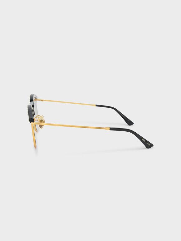 Embellished Sunglasses, Black, hi-res