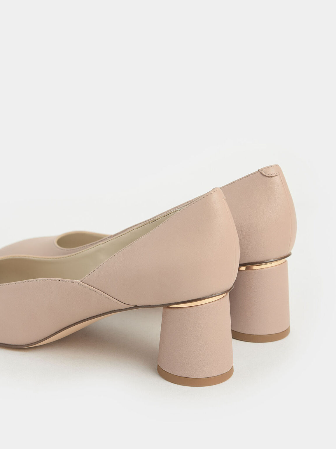 圓柱粗跟鞋, 膚色, hi-res