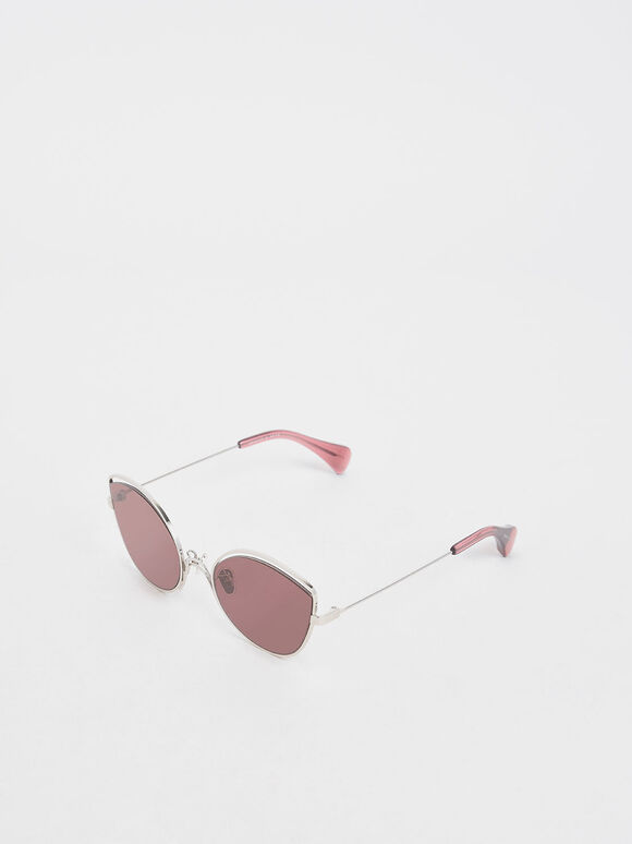 Cut Out Butterfly Sunglasses, Purple, hi-res