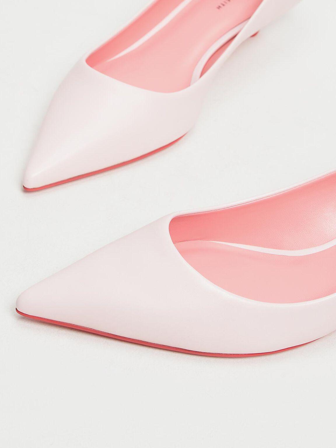 Classic Kitten Heel Pumps, Light Pink, hi-res