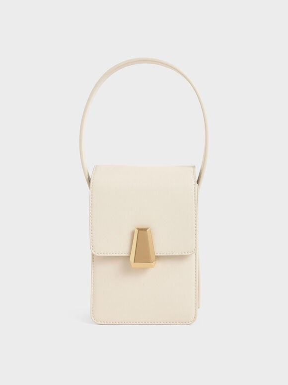 Elongated Front Flap Bag, Chalk, hi-res