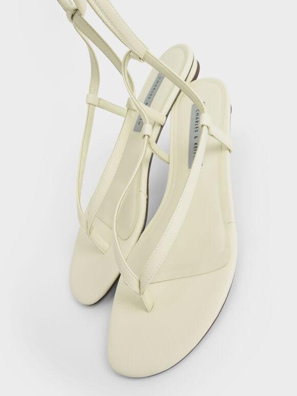 Tie-Around Thong Sandals, Chalk, hi-res