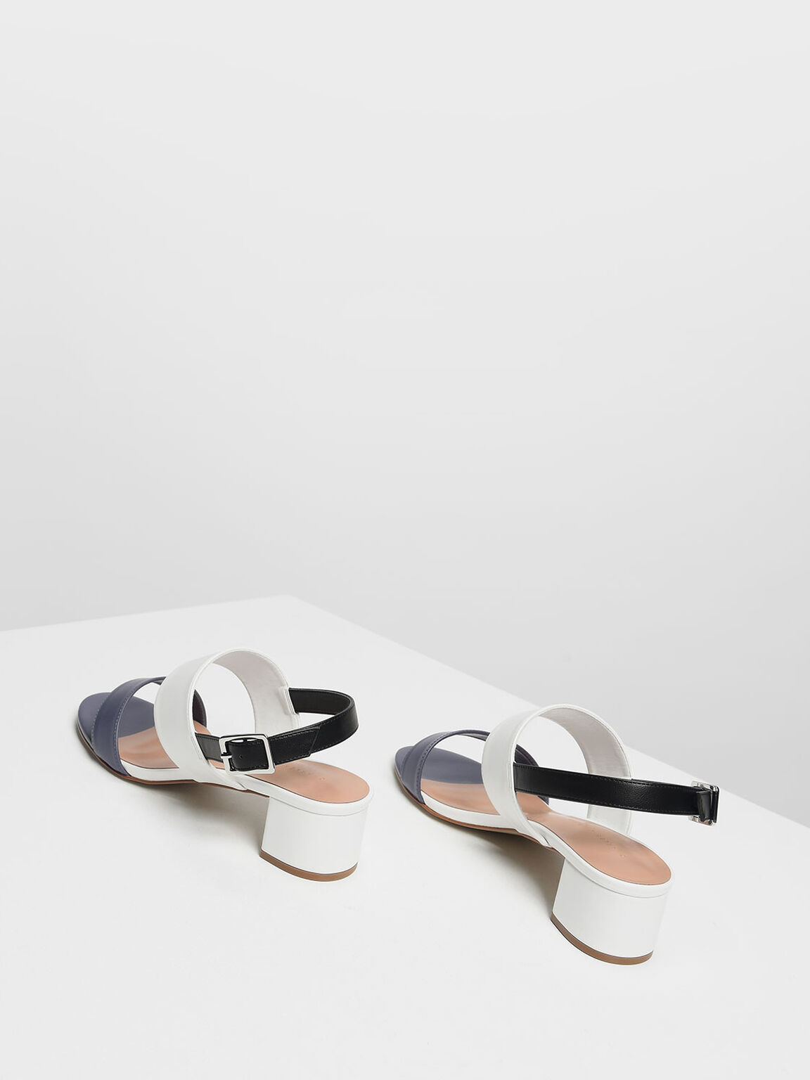 Classic Double Strap Heeled Sandals, Multi, hi-res