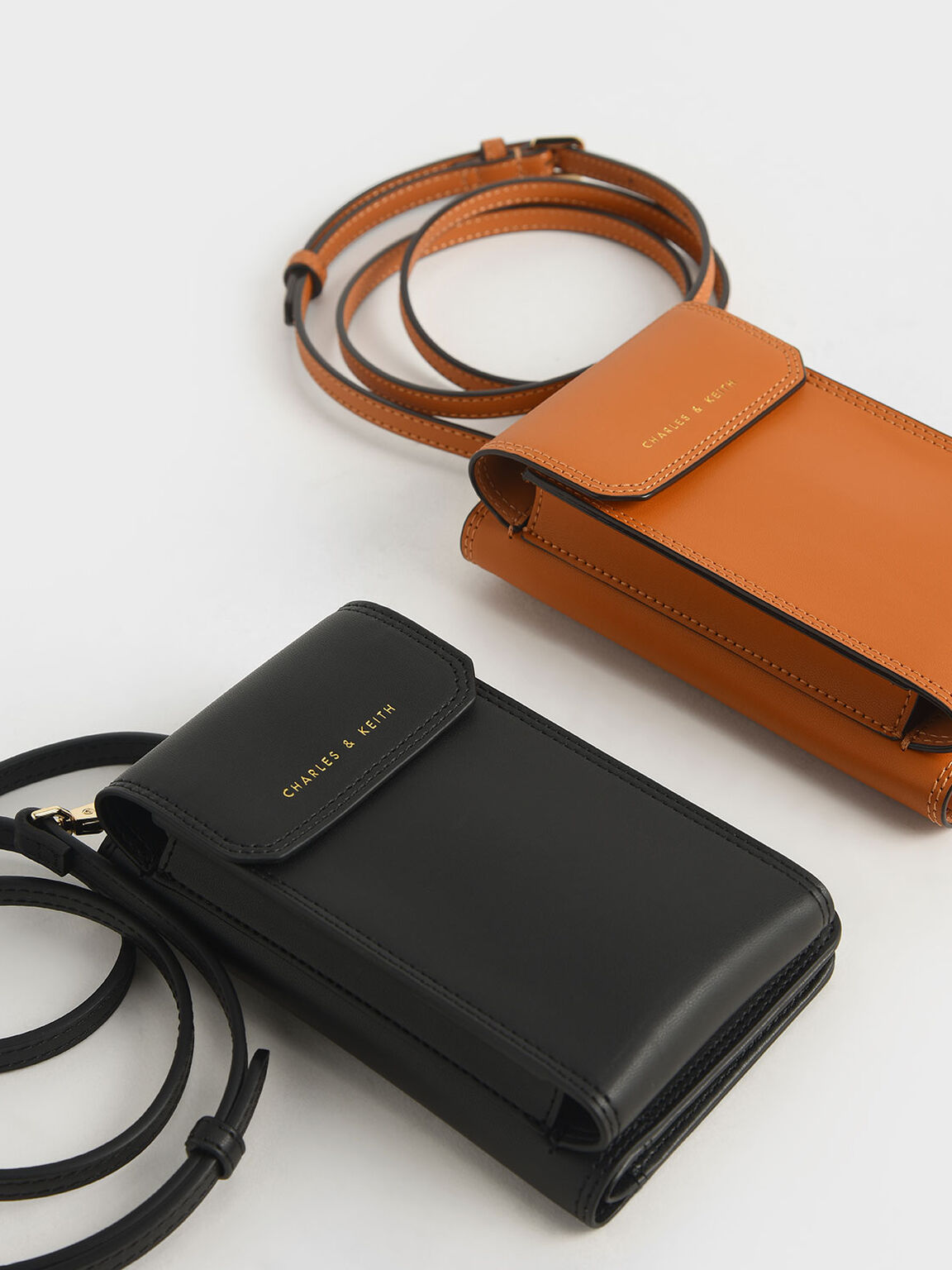 Elongated Pouch Wallet, Black, hi-res