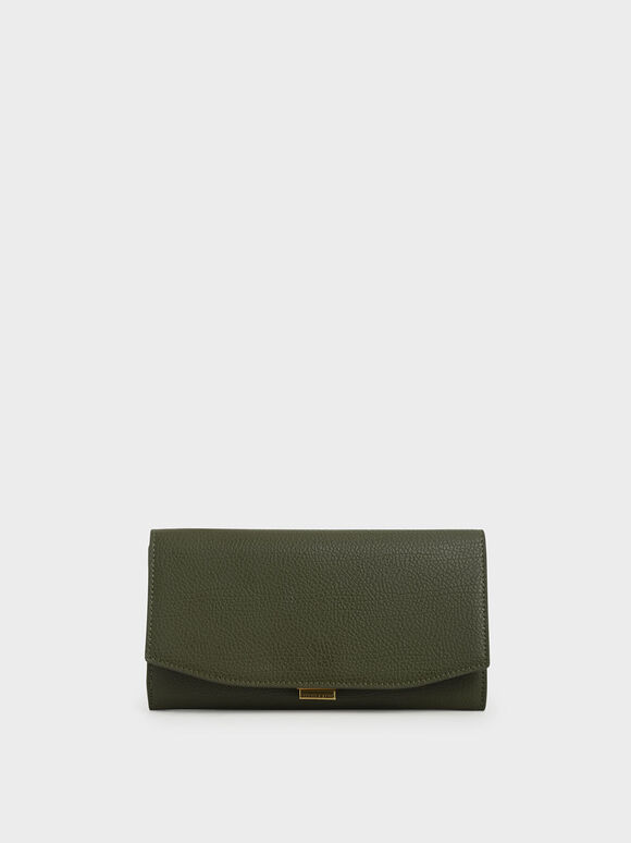 Mini Long Wallet, Olive, hi-res