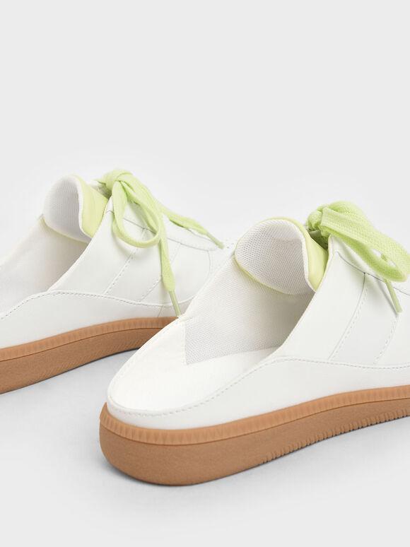 休閒鞋帶懶人鞋, 白色, hi-res