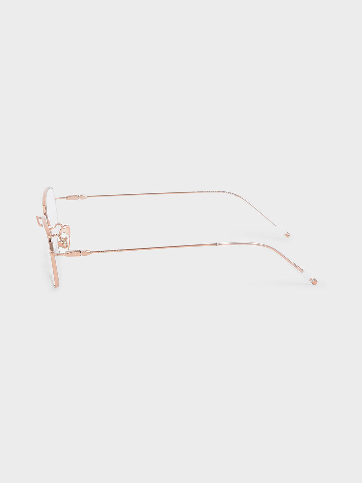 Rectangular Wireframe Sunglasses, Pink, hi-res