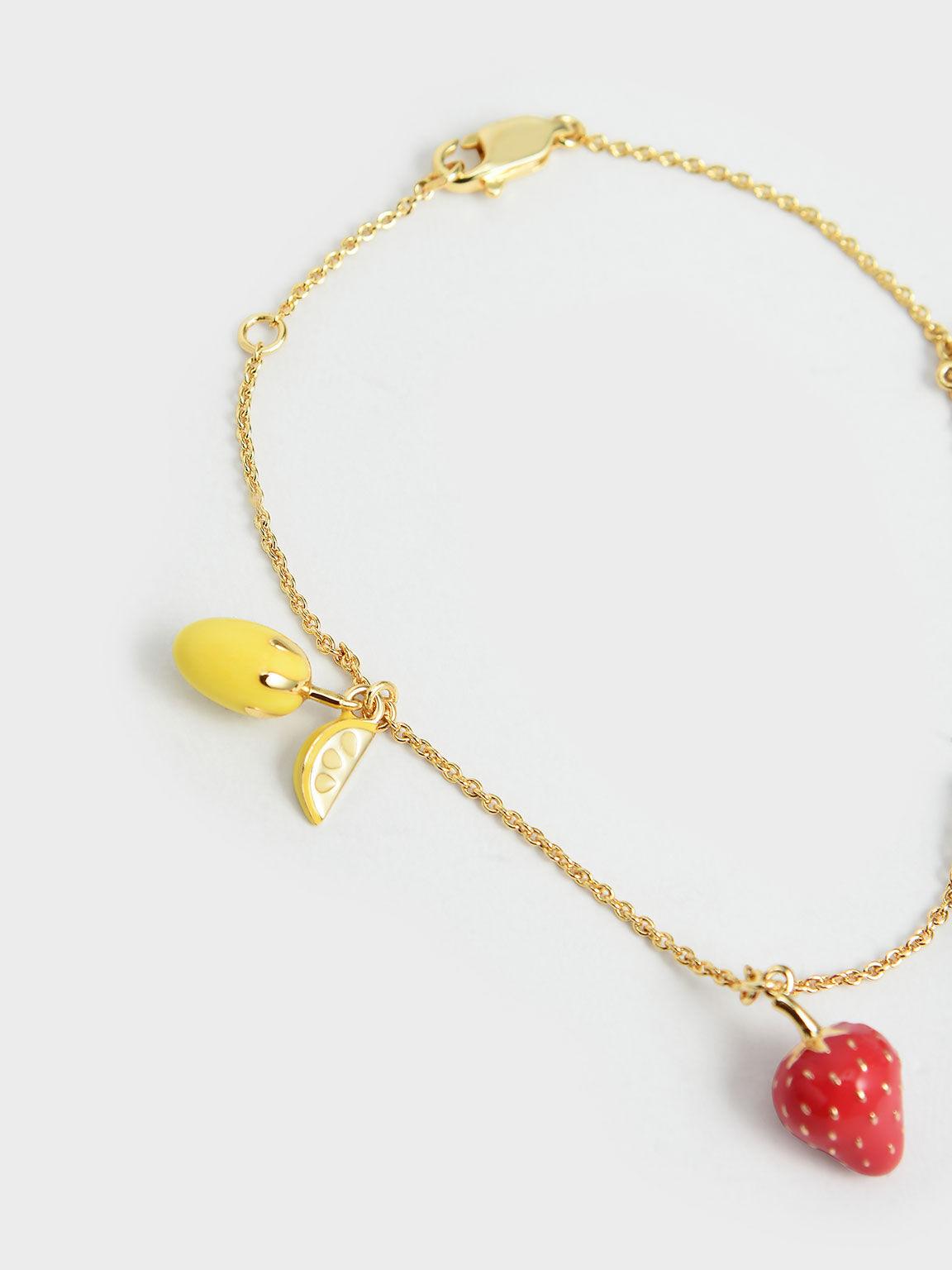 Fruits Beaded Bracelet, Multi, hi-res