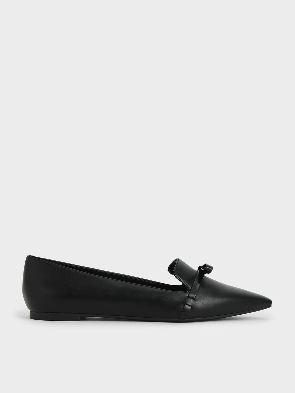 Bow Tie Loafers, Black, hi-res